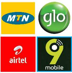 mtn, glo, airtel and 9mobile code