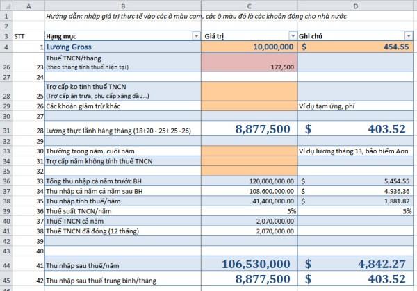 Bảng tính lương net và các loại thuế, Bảo hiểm phải nộp