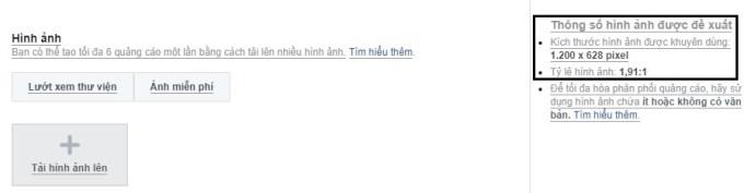 Kích cỡ ảnh chuẩn khi tạo quảng cáo Facebook