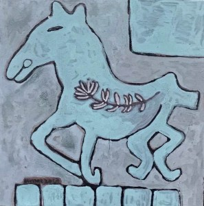 Baby Horse, an acrylic painting by Nguyen Thi Mai