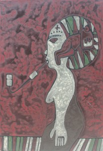 High, an acrylic on canvas painting by Nguyen Thi Mai