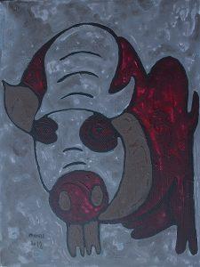 January Pig, acrylic painting by Nguyen Thi Mai