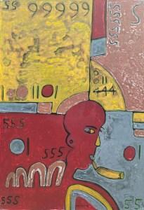 Smoking Hot, an acrylic painting by Nguyen Thi Mai