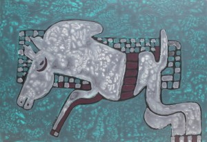 Stallion 02, an acrylic painting by Nguyen Thi Mai