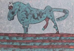 Stallion 03, an acrylic painting by Nguyen Thi Mai