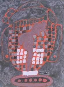 Three Wise Monkeys 24, an acrylic painting by Nguyen Thi Mai