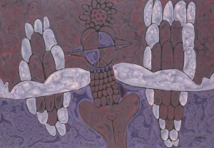 Zodiac Dragon, an acrylic on canvas painting by Nguyen Thi Mai