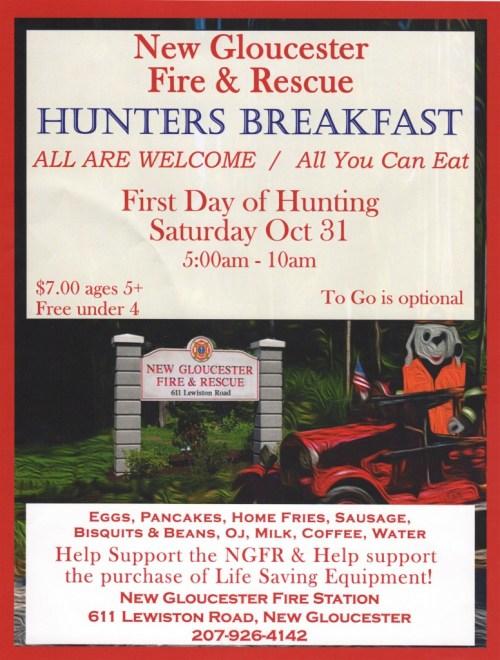 New Gloucester Fire & Rescue Hunter's Breakfast