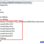 Missing User Admin Template group policy settings on a Server 2012R2 system