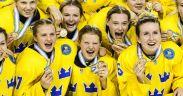 Jogadoras suecas do Hockey Femininose organiza em movimento por igualdade na modalidade
