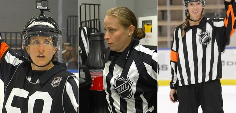 mulheres vão apitar o jogo dos Prospects da NHL