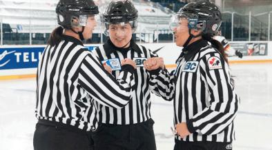 Árbitras de hockey buscam reconhecimento