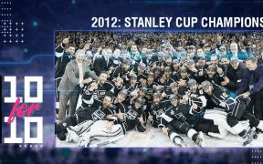 Comemoração do LA Kings após conquistar em casa a primeira Stanley Cup na história do time