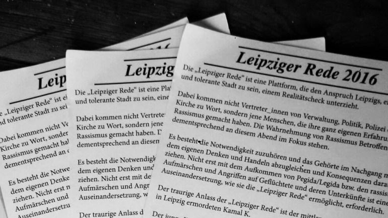 Leipziger Rede: Mehr als ein Ausgehtipp – über Rassismus in Leipzig.