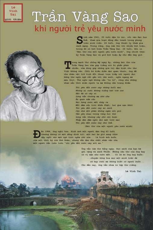 """Lê Vĩnh Tài giới thiệu Trần Vàng Sao trên """"cây thơ"""""""