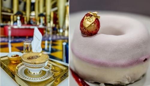 Các món ăn sử dụng vàng tạiBurj Al Arab. Ảnh: CNN