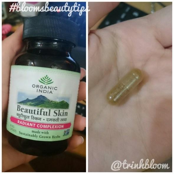 thực phẩm chức năng Organic India Beautiful Skin đẩy mụn và trị mụn ẩn