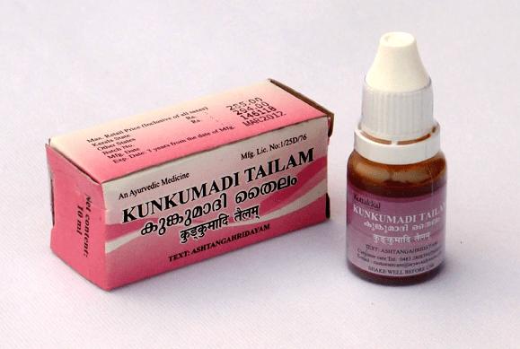 Dầu dưỡng trị mụn, trị thâm, làm sáng da : Kunkumadi Tailam