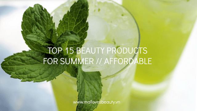 Sản phẩm chăm sóc da thích hợp nhất cho mùa hè