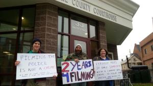 NH Jury Activists Outside Cheshire Superior Court