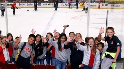Students at the Honda Center
