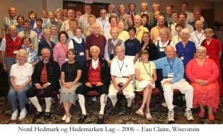 Nord Hedmark og Hedemarken Lag 2006 Eau Claire Wisconsin