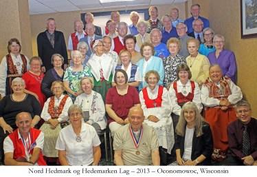 Nord Hedmark og Hedemarken Lag 2013 Oconomowoc Wisconsin