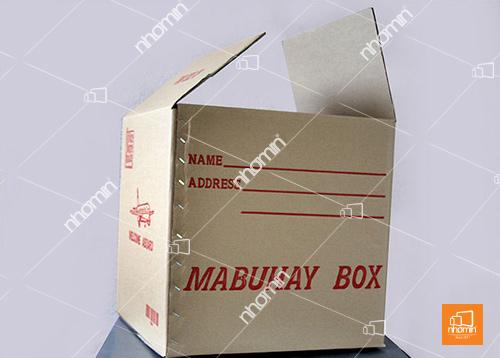 thùng carton ghim cạnh