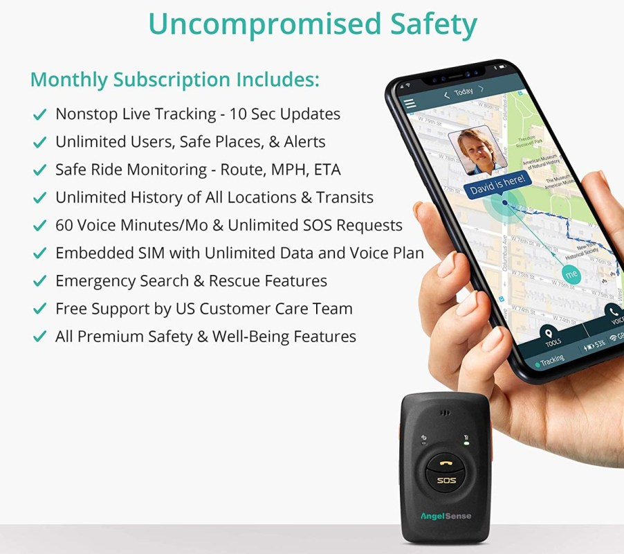 AngelSense Personal GPS Tracker for Kids