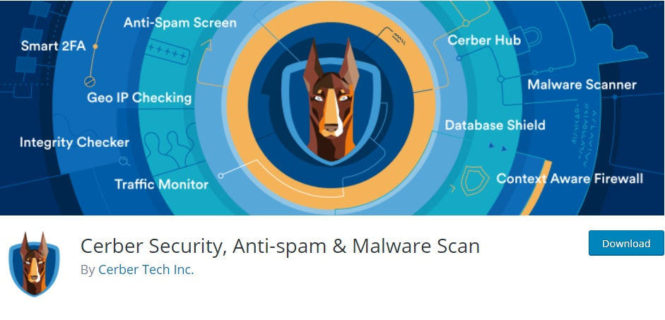 Cerber Security, Anti-spam & Malware Scan