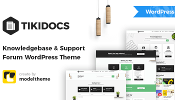 Tikidocs - Knowledgebase & Support Forum WordPress Theme + RTL thumbnail