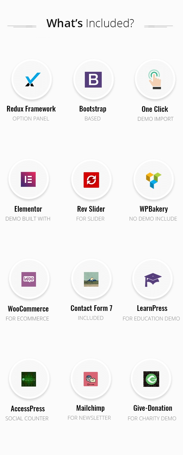 Avas Elementor WordPress Theme inclusion