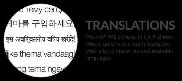 The X Theme for WordPress translate