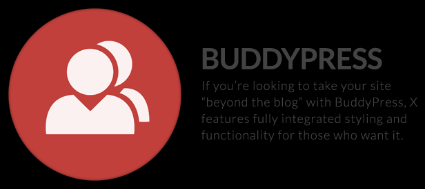 The X Theme for WordPress buddy press
