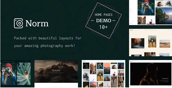 Norm - Photography Elementor WordPress Theme