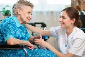 Senior,Woman,With,Her,Caregiver,At,Home