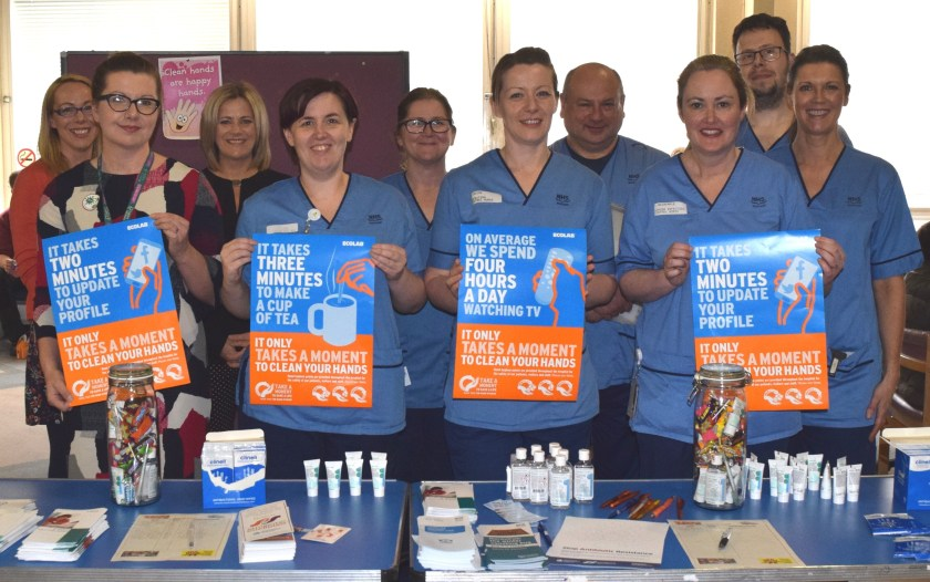 SIDE NHS Tayside supports SAVE LIVES Clean Your Hands Campaign 2