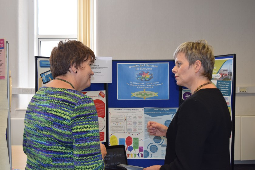 Ms McQueen meeting Karen Anderson Director of Allied Health Professions