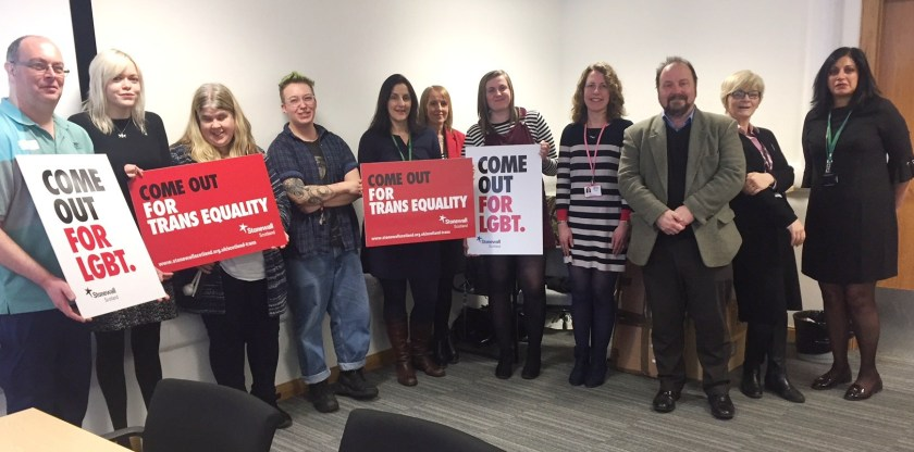SIDE Stonewall Scotland staff survey results group pic