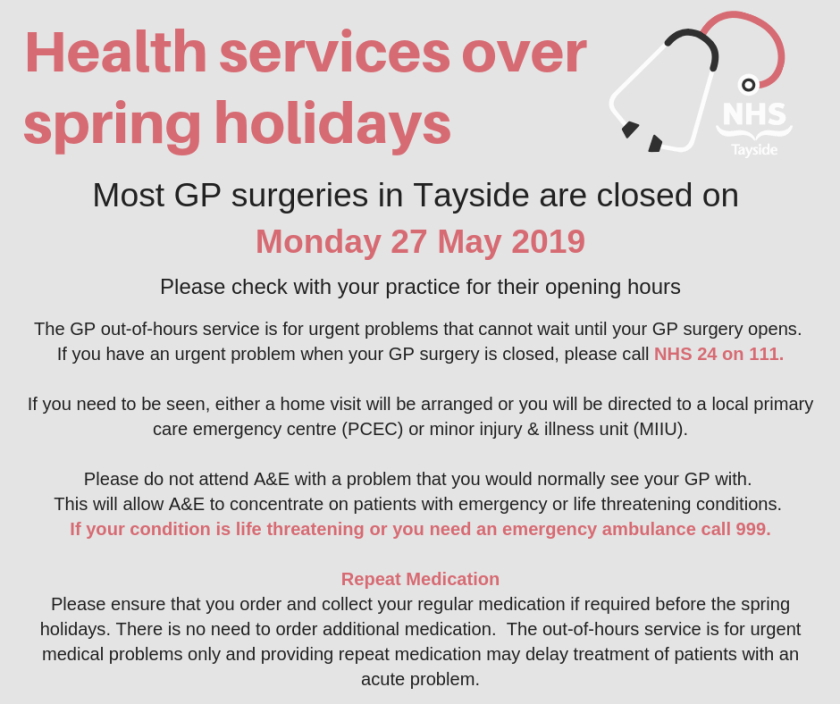 Health services over spring holidays advert 2019.png
