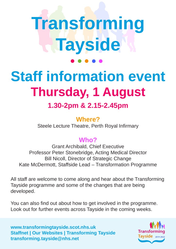 MAIN Transforming Tayside staff event - poster