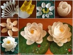 Bông hoa từ thìa nhựa