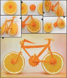 Chỉ từ 1 trái cam hóa thành chiếc xe đạp
