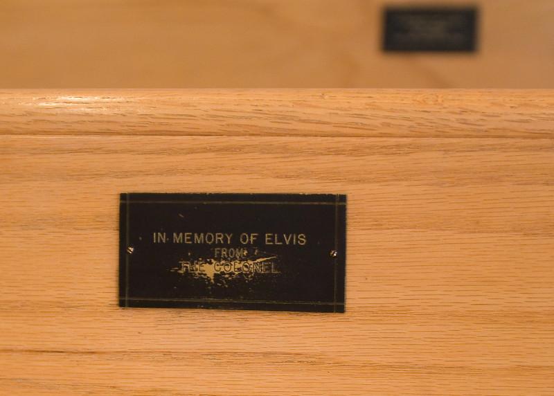 The colonel's pew in Elvis's Tupelo chapel