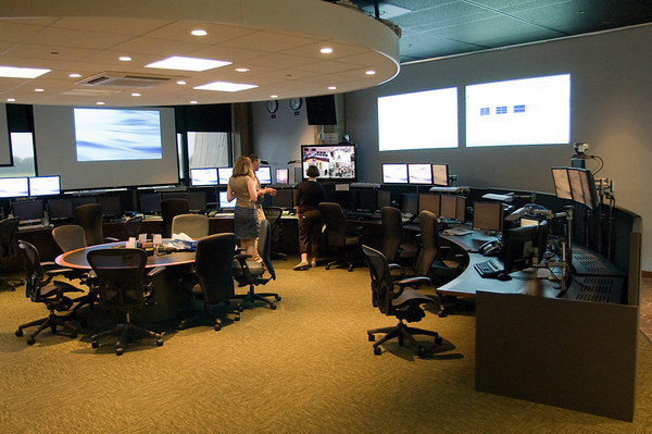 The LHC Control Room located at Fermilab.