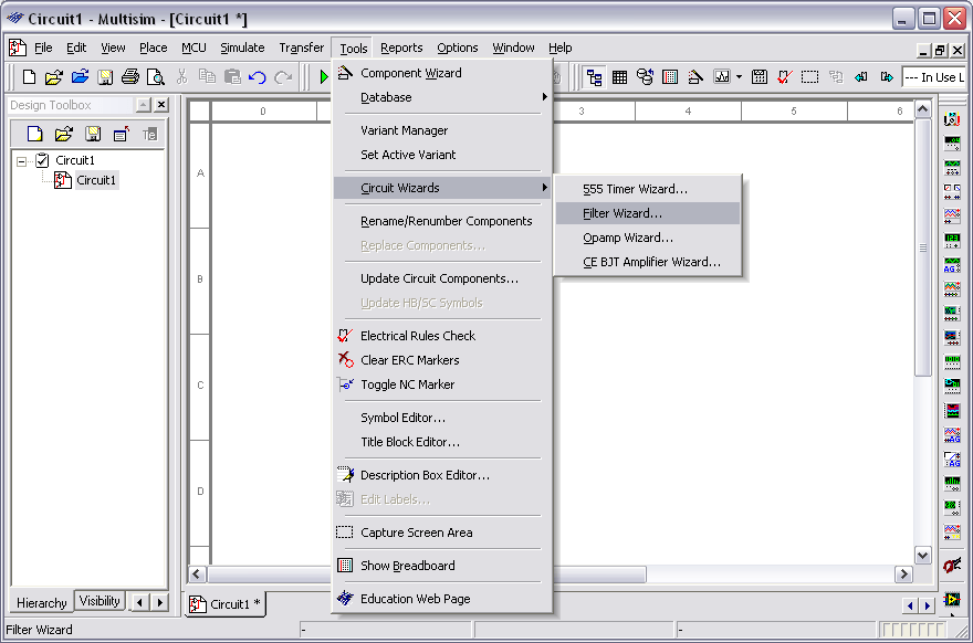 How To Use The Filter Wizard In NI Multisim