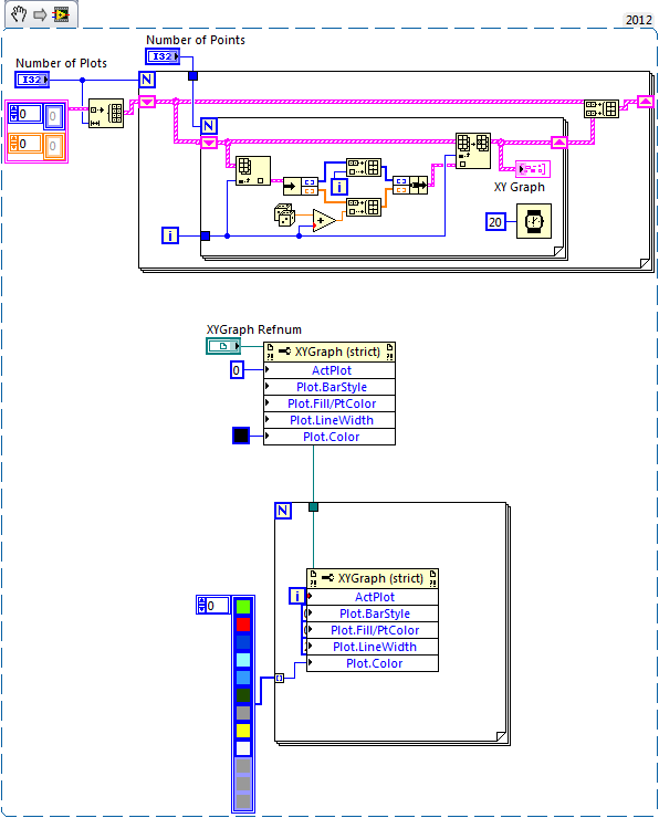 Solved: XY Graph overlay multi plot with different colors  Discussion Forums  National Instruments