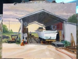 Greg LaRock's demo painting at NIA workshop