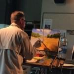 Greg LaRock demonstrating in oil at IUSB