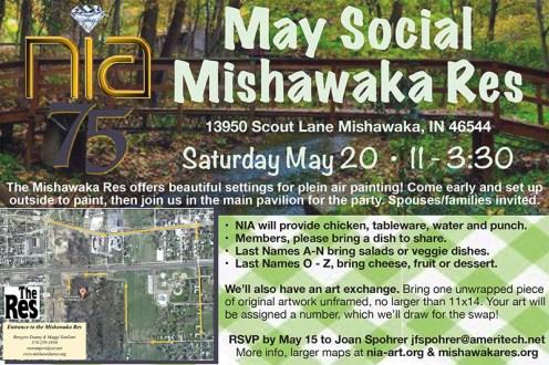 NIA May Social invitation